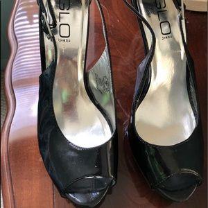 J-Lo glitter heels